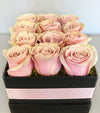 Blush Elegance Luxury Rose Hat Box