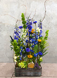 Blue Garden Design Arrangement