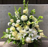 White Elegance Sympathy Arrangement