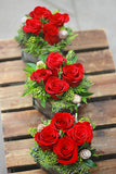 Christmas Trim Table Centre Vase Arrangement