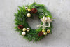 Gilded Snow Outdoor Wreath