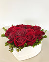 Love of My Life Luxury Heart Rose Hat Box