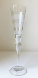 Kosta Boda Chrystal Champagne Glass Stripes - Giftware