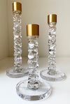 Kosta Boda Chrystal Gold Candle Holder Luxury Large - Giftware