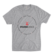 Young Once Circle Hourglass Cotton/Poly T-Shirt Heather Gray