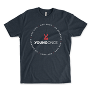 Young Once Circle Hourglass Cotton/Poly T-Shirt Midnight Navy