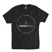 Young Once Circle Hourglass Tri-Blend T-Shirt Vintage Black