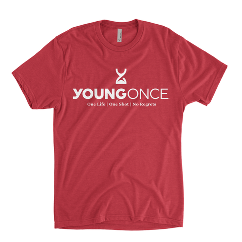 Young Once Hourglass Tri-Blend T-Shirt Vintage Red