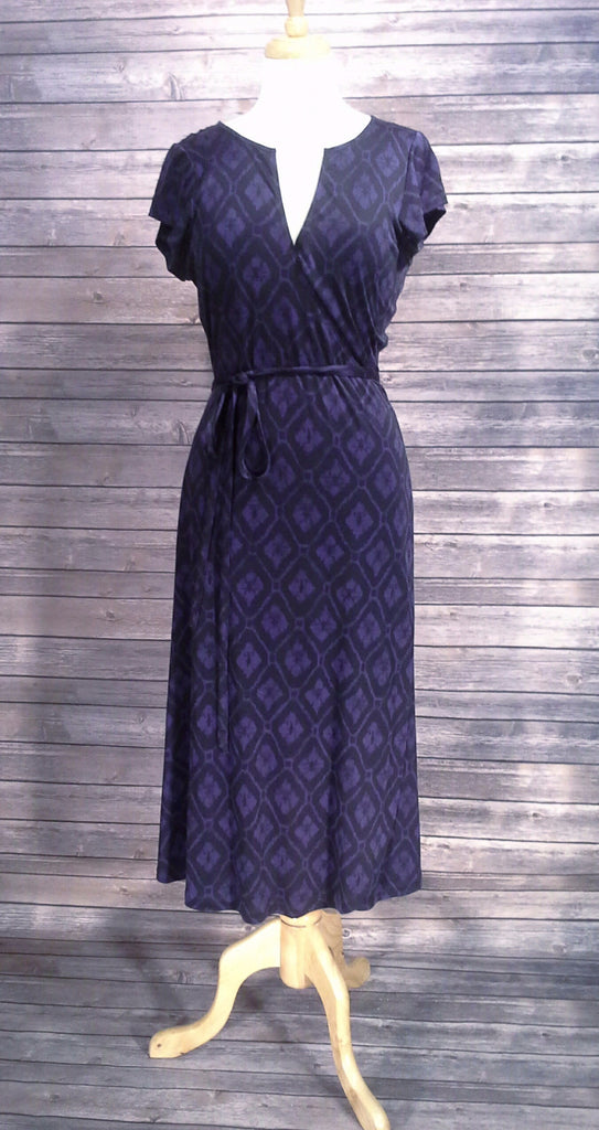 Banana Republic Purple Wrap Dress Size Large