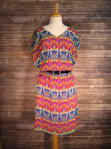 AGB Multi Print Dress Size 18