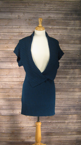 Alyx Sweater Dress Size Medium Dark Aqua
