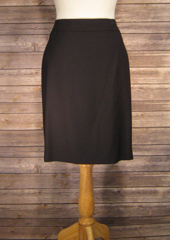Ann Taylor Black Pencil Skirt Size 12 Petite