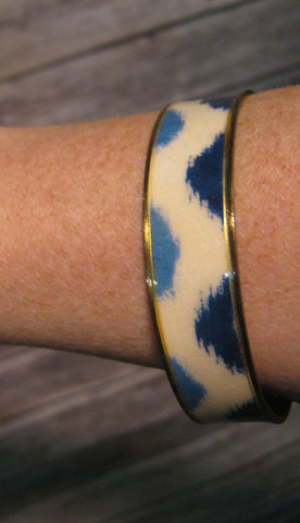 Navy, White, & Light Blue Bangle