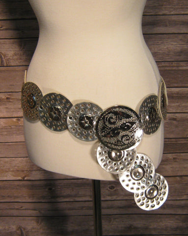 Silver Interlinking Circle Belt