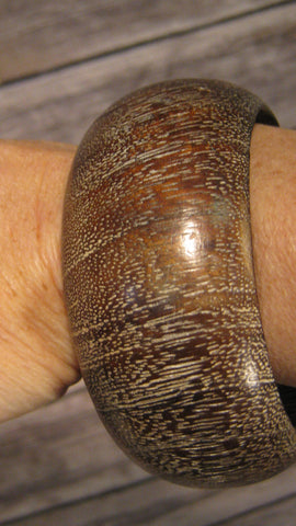 Multi Tone Brown Wood Bangle