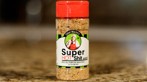 Chef Marla's Super Shit-arein, 2.5 Ounce, Hot Shit, Spicy All Purpose Seasoning
