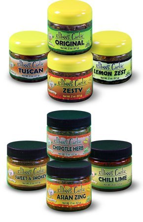 Ellbee's Garlic Savory Sampler Set, Essentials & Griller's Choice, 8 Pack