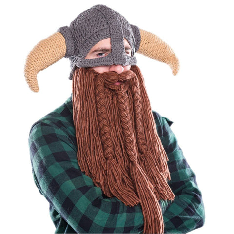 Beardo Battle Viking Detachable Beard Hat
