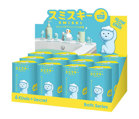 Dreams Smiski Glow in the Dark Figure, Bath Series, Random Styles, 12 Pack