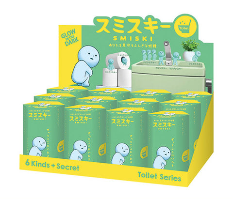 Dreams Smiski Glow in the Dark Figure, Toilet Series, Random Styles, 12 Pack