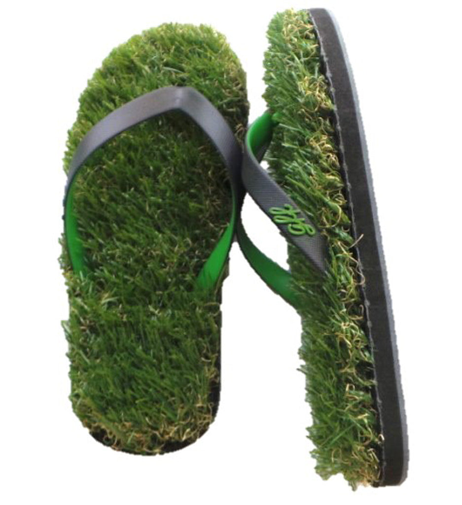GFF Grass Flip Flops, X-Small (5.5-7), Black Green