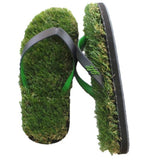 GFF Grass Flip Flops, Small (7.5-9), Black Green
