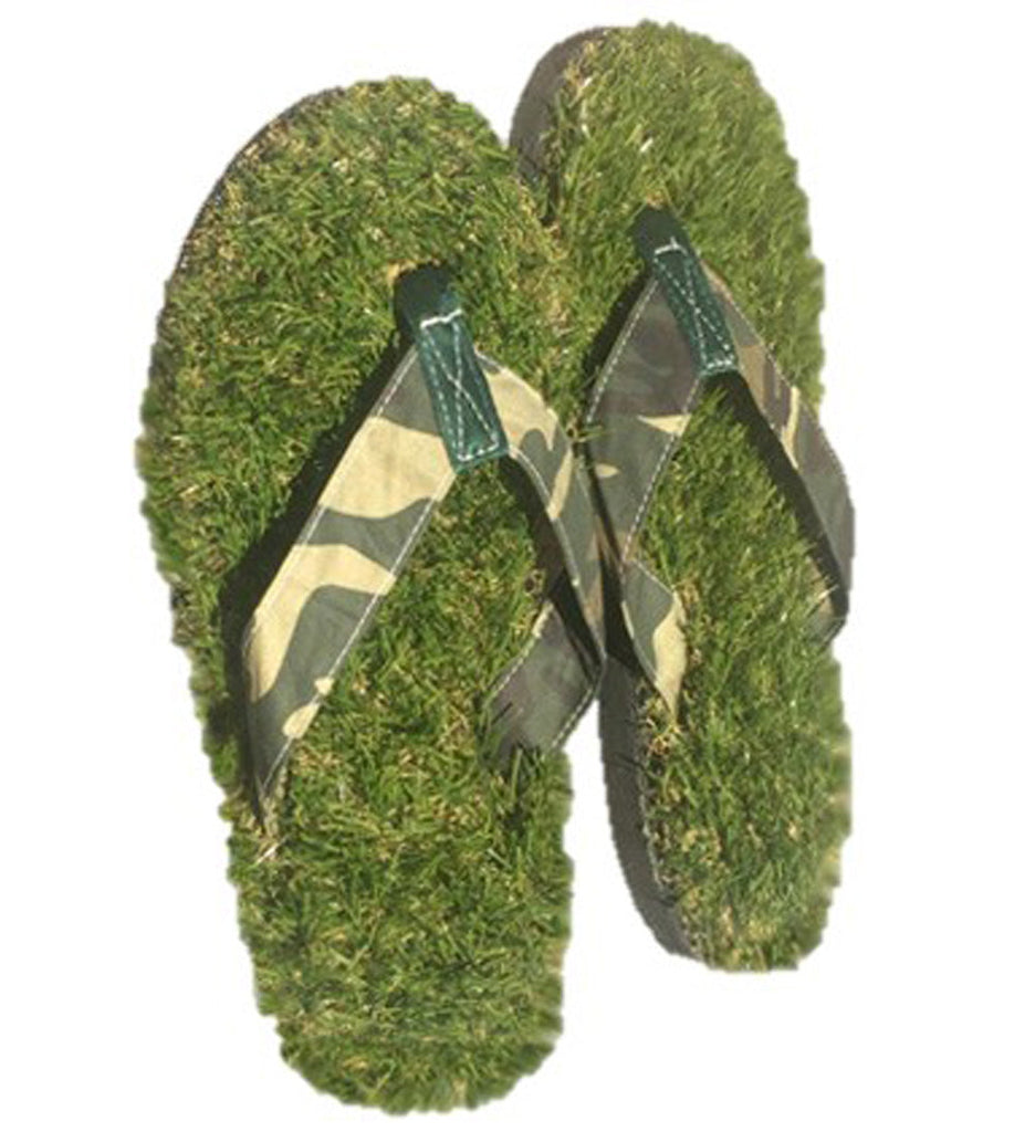 GFF Grass Flip Flops, X-Small (5.5-7), Camo Green