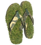 GFF Grass Flip Flops, Medium (9.5-10.5), Camo Green