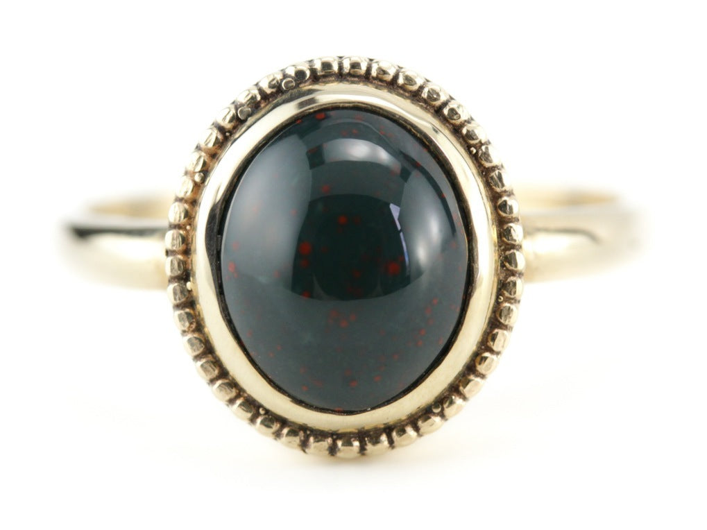 The Emma Bloodstone Ring in 14K Yellow Gold