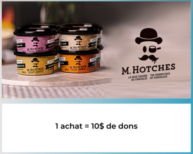 M.Hotches - M.Hotches - Panier de 8 fondues faites de chocolat belge