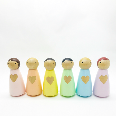 Pastel Little Lady Pegs
