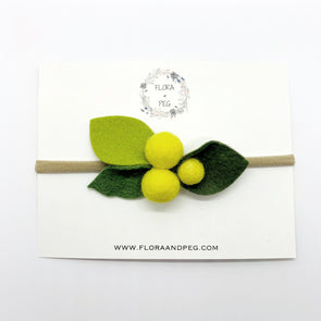 Felt Flower Headband | Lemonade Berries