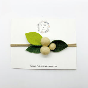 Felt Flower Headband | Almond Berries