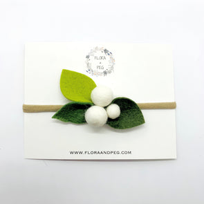 Felt Flower Headband | Creme Berries