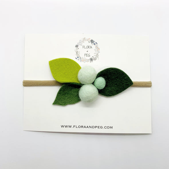 Felt Flower Headband | Mint Berries