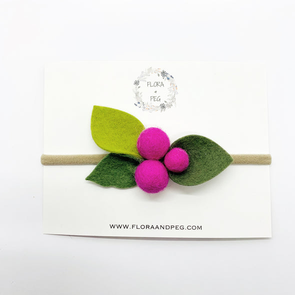 Felt Flower Headband | Foxglove Berries