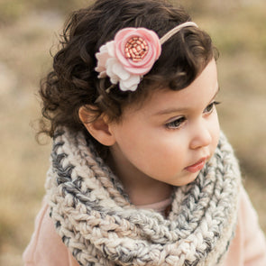 Felt Flower Headband | Rose Gold Petite