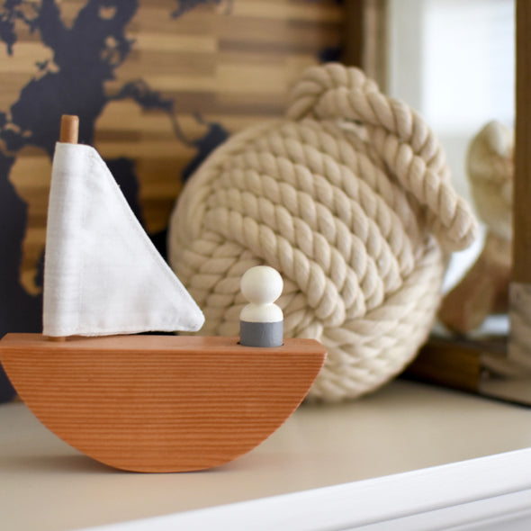 Little Adventurer Wooden Sailboat