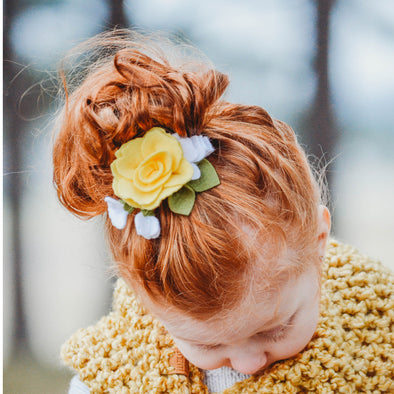 Felt Flower Headband | Buttercup Garden Rose