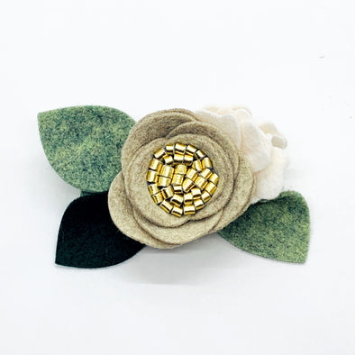 Felt Flower Headband | Almond Petite