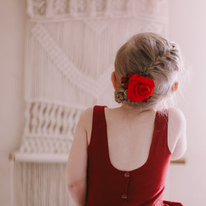 Felt Flower Headband | Crimson Garden Rose