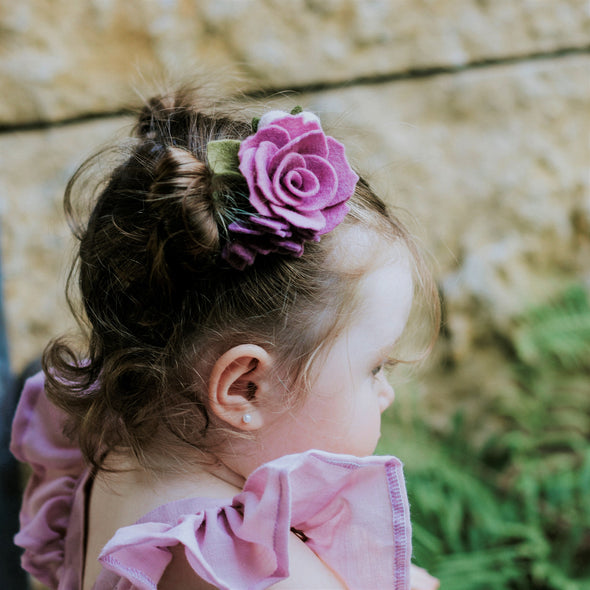 Orchid Garden Rose Felt Flower Headband