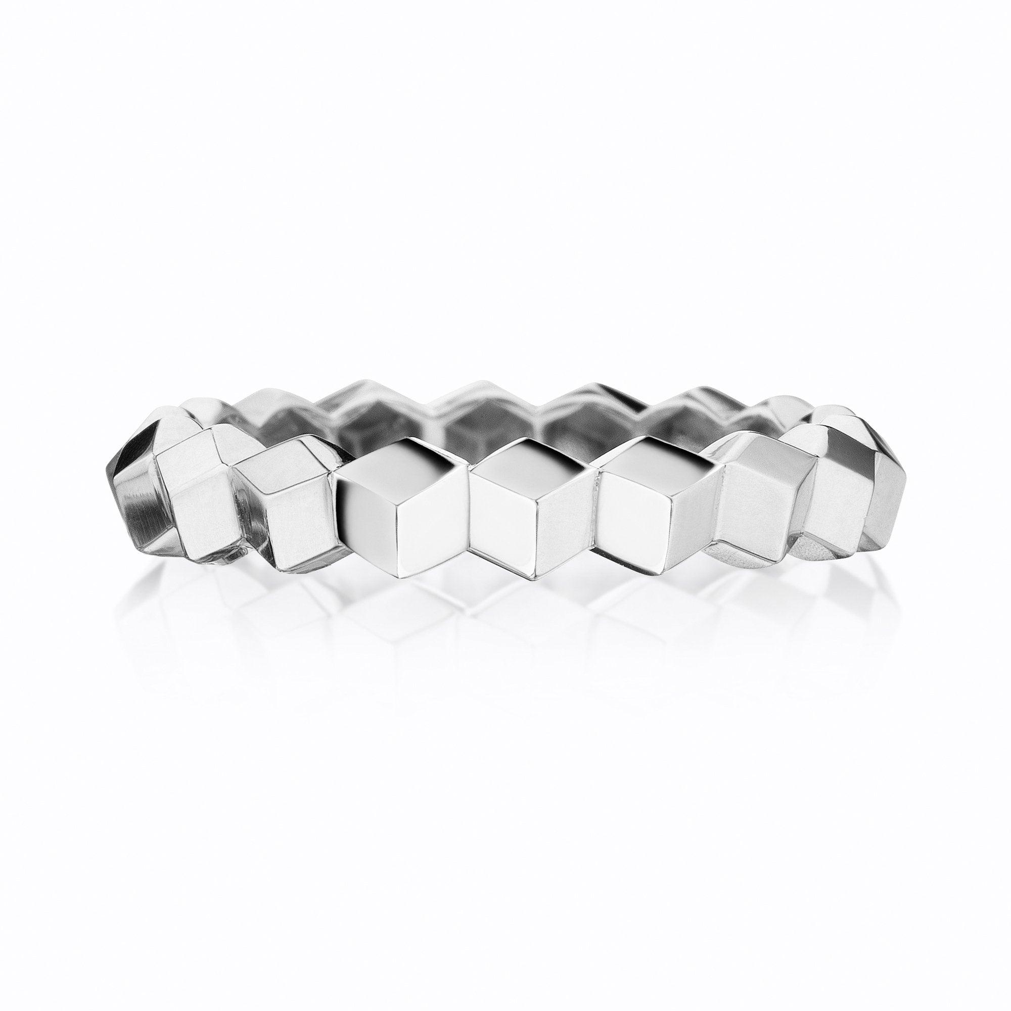 Stackable White Gold 'Brillante®' Band, Petite - Paolo Costagli - 1