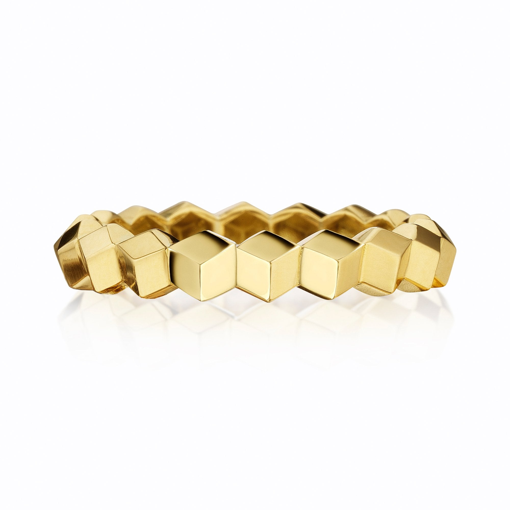 Stackable Yellow Gold 'Brillante®' Band, Petite - Paolo Costagli - 1