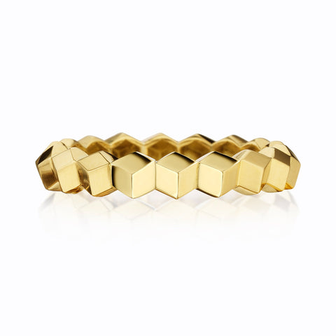 Stackable Yellow Gold Brillante® Band, Petite - Paolo Costagli