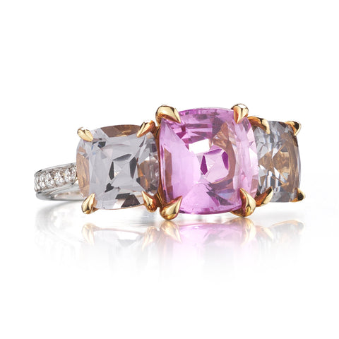 18kt Natural Pink Sapphire and Spinel Ring - Paolo Costagli