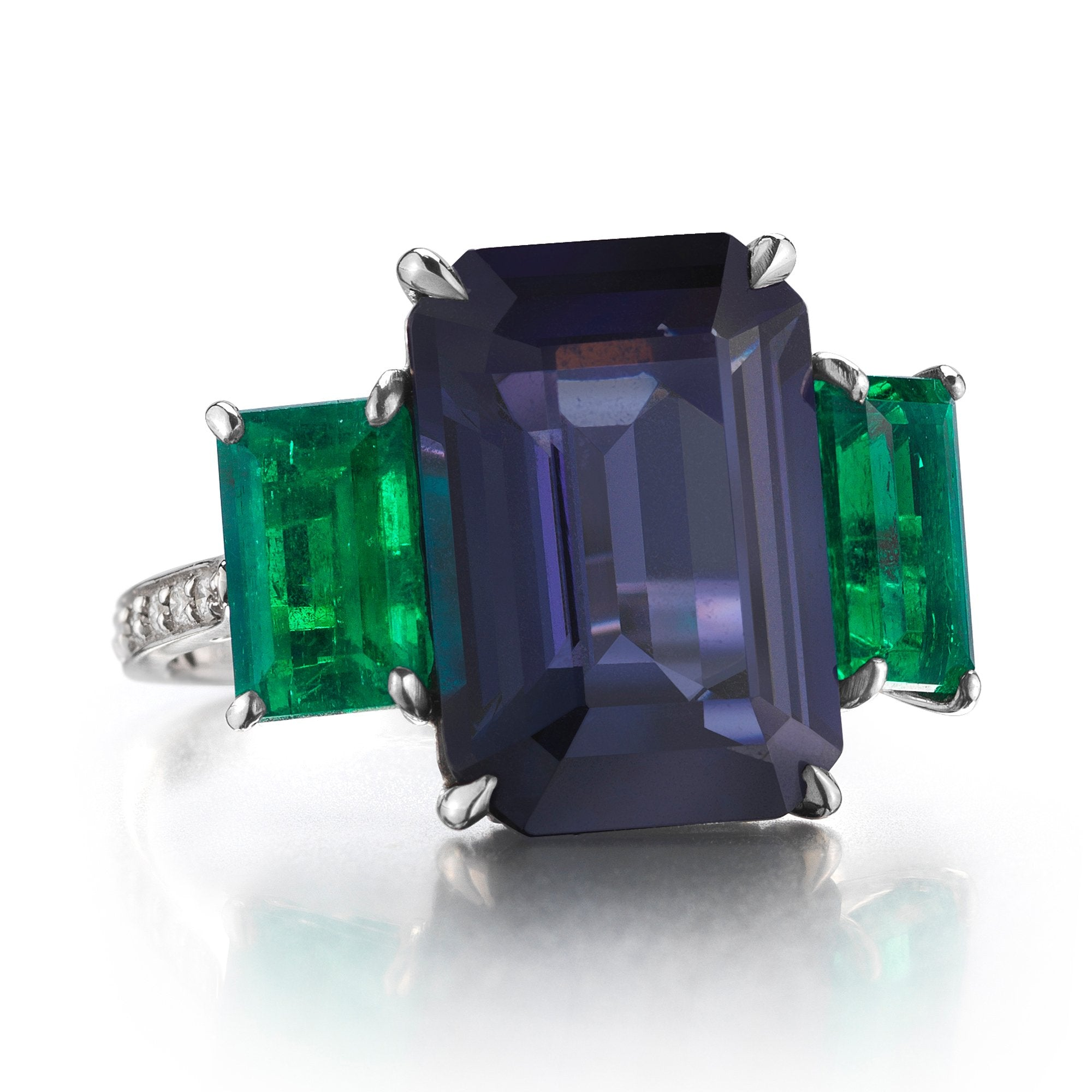 Blue Spinel and Emerald Ring - Paolo Costagli - 1
