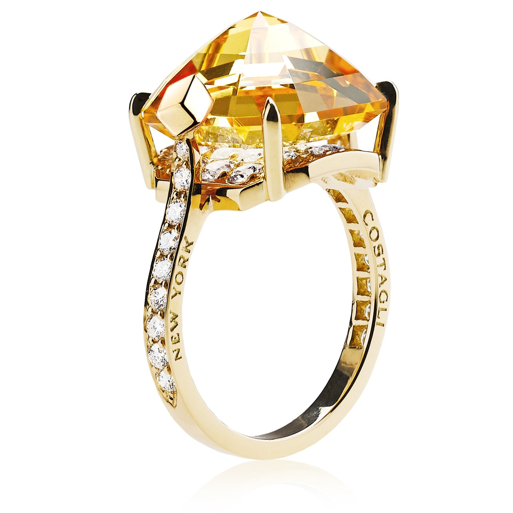 18kt Yellow Gold Imperial Topaz Valentina Ring - Paolo Costagli