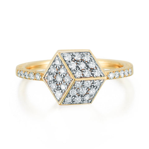 Yellow Gold and Diamond Brillante® Ring, petite - Paolo Costagli