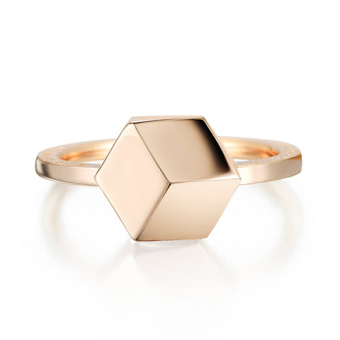 18kt Rose Gold Stackable Brillante® 9mm Ring - Paolo Costagli